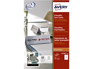 TENTKAART AVERY L4796-20 210X60MM WIT 20ST