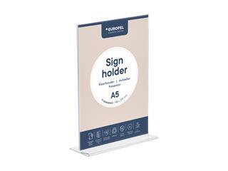 Kaarthouder OPUS 2 T-standaard A5 staand acryl