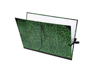 Tekenmap Canson 61x81cm kleur groen annonay sluiting met linten