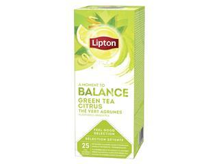 Thee Lipton Balance Groene thee Citrus 25stuks