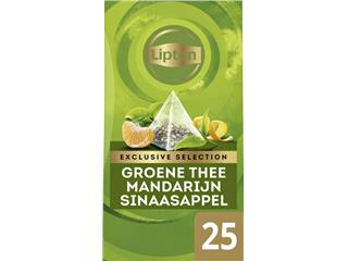 Thee Lipton Exclusive Groene thee Mandarijn 25 piramidezakjes