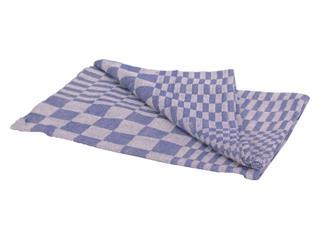 Theedoek katoen blauw/wit 65x65cm 6 stuks
