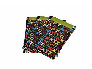 Tijdschriftzak donker letters 25x4x34cm doos à 500 stuks