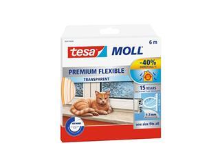Tochtstrip Tesa Moll 05417 flexibel 6m transparant