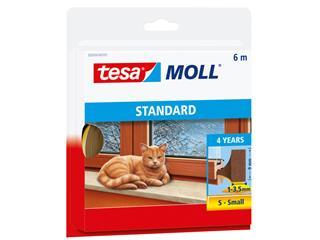 Tochtstrip Tesa Moll 05559 i profiel 9mmx6m bruin