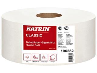 Toiletpapier Katrin 106252 Jumbo M2 2laags 6rollen