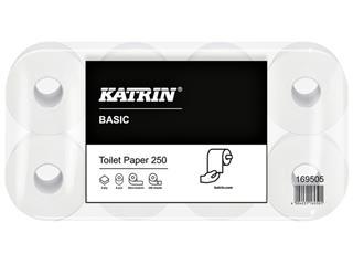 TOILETPAPIER KATRIN BASIC 2LAAGS 250VEL 64ROL 169505