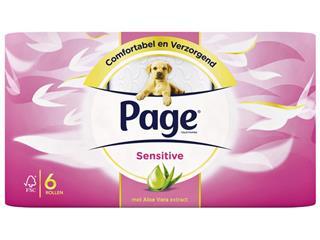 Toiletpapier Page Aloë Vera 2-laags 200vel wit 6 rollen