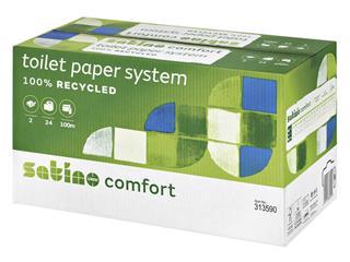 Toiletpapier Satino Comfort 2-laags 100m doprollen 24stuks