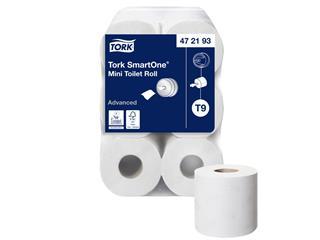 Toiletpapier Tork T9 472193 Advanced 2laags 620vel 12rollen wit