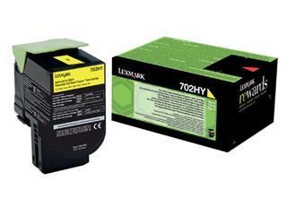 Tonercartridge Lexmark 70C2HY0 prebate geel HC