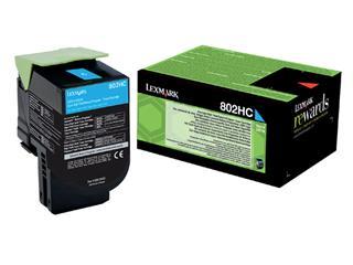 Tonercartridge Lexmark 80C2HC0 prebate blauw HC
