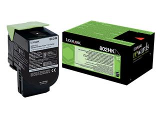Tonercartridge Lexmark 80C2HK0 prebate zwart HC