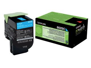 Tonercartridge Lexmark 80C2SC0 prebate blauw