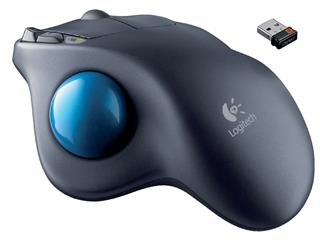 Trackball Logitech muis draadloos M570 antraciet