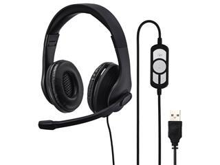 USB Hoofdtelefoon Hama HS-USB300 over-ear zwart