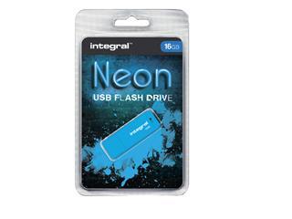 USB-STICK INTEGRAL FD 16GB NEON BLAUW
