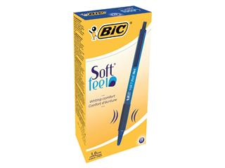 Balpen Bic Soft Feel Clic Grip blauw medium