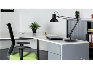 Online bureaulamp unilux success 80 led met klem en voet zwart kopen