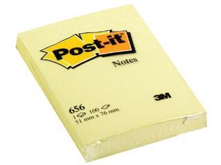 Memoblok 3M Post-it 656 51x76mm geel