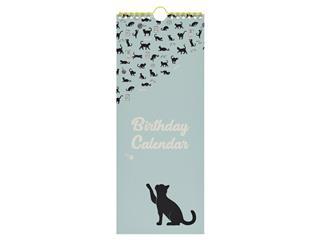 Verjaardagskalender 130x325mm Cats