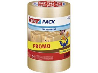 Verpakkingstape Tesa 57008 50mmx66m transparant promopack