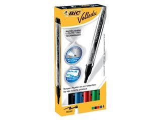 Viltstift Bic Liquid whiteboard rond assorti set à 4st