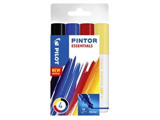 Verfstift Pilot Pintor essentials 1,4mm etui à 4 stuks ass