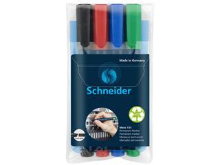 Viltstift Schneider Maxx 133 beitel set à 4 kleuren