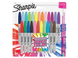 Viltstift Sharpie Colour Burst rond 0.9mm blister à 24 kleuren