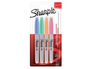 Viltstift Sharpie rond 0.9mm blister à 4 stuks pastel assorti