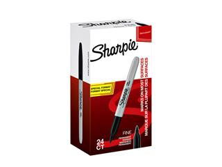Viltstift Sharpie rond 1.0mm F valuepack á 20+4 gratis zwart