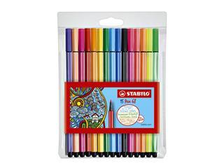 Viltstift STABILO Pen 68 etui à 10+5 neon kleuren