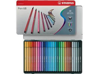 Viltstift STABILO Pen 68 blik à 30 kleuren