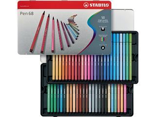 Viltstift STABILO Pen 68 blik à 50 kleuren