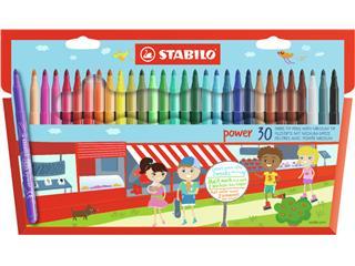 Viltstift STABILO Power 280 etui à 30 kleuren
