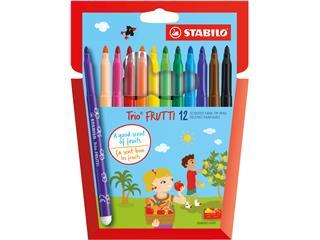 Viltstift STABILO Trio Frutti 290 etui à 12 kleuren