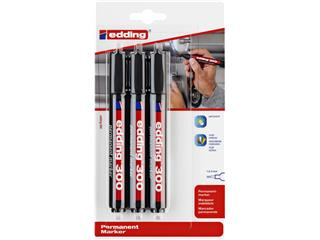 Viltstift edding 300 rond 1.5-3mm blister à 3 stuks zwart