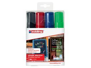 Viltstift edding 4090 window schuin ass 4-15mm etui à 4st