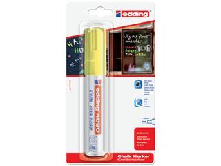 Viltstift edding 4090 window schuin neongeel 4-15mm blister
