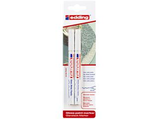 Viltstift edding 780 lakmarker rond 0.8mm blister à 2 stuks wit