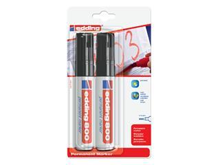 Viltstift edding 800 schuin zwart 4-12mm blister à 2st