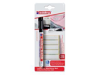 Viltstift edding 8408 wasgoed rond zwart 1mm blister