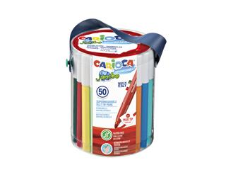 Viltstiften Carioca Jumbo maxi set à 50 kleuren