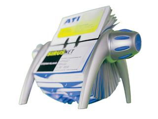 Visitekaartenmolen Durable Vegas 2417 voor 400st blauw/grijs