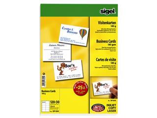 Visitekaartjes Sigel 180gr wit