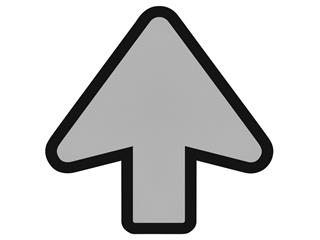Vloersticker OPUS 2 pijl lichtgrijs/zwart