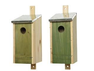 Vogelhuis hout voor koolmees assorti