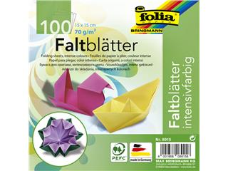 Vouwblaadjes Folia 70g/m² 15x15cm assorti pak à 100 vel