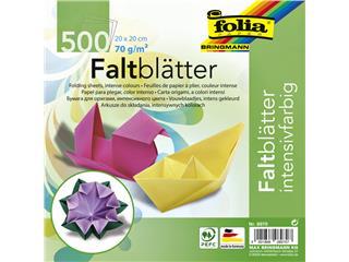 Vouwblaadjes Folia 70g/m² 20x20cm assorti pak à 500 vel
